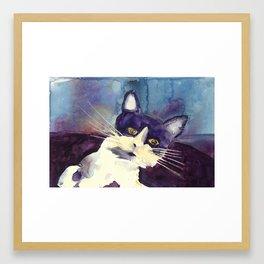 Josie // Watercolor Painting // Cat Painting Framed Art Print