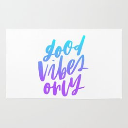 Good Vibes Only Ombre Rug