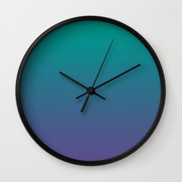 Bright Green Ultra Violet Gradient   Pantone Color of the year 2018 Wall Clock