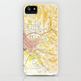Hayward, CA from 1950 Vintage Map - High Quality iPhone Case