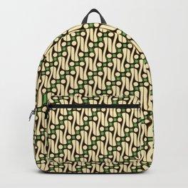 Batik Parang Green Pattern Backpack