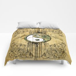 Ying and yang  Comforters