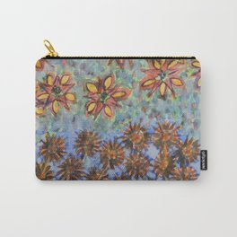 Asters and Paradise Flowers Carry-All Pouch