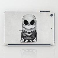 jack skellington iPad Cases featuring Mini Jack Skellington by bimorecreative