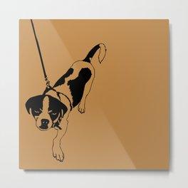 Beware of the Dog Metal Print