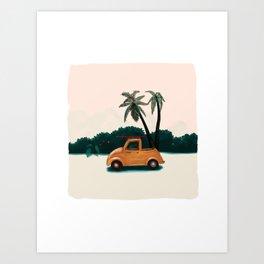 Buggy on the beach Art Print