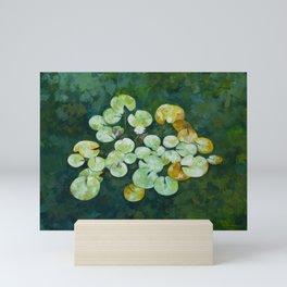 Tranquil lily pond Mini Art Print