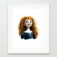 merida Framed Art Prints featuring Merida by Alex Nunez
