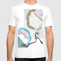 MRBL MEDIUM White Mens Fitted Tee