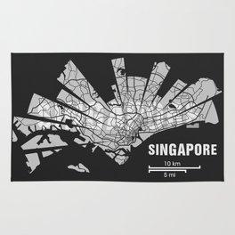 Singapore Map Rug