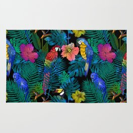 Tropical Birds and Botanicals Rug