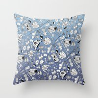 seinfeld Throw Pillows featuring Seinfeld Pattern by Jamie Leonard