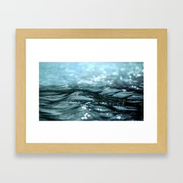Floating water in the river Framed Art Print