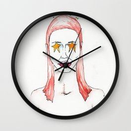 Lady stars, Nude female figure, NYC artist Wall Clock