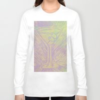 martini Long Sleeve T-shirts featuring purple martini by Kim Codner Designs