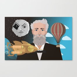 jules verne science fiction retro writer Canvas Print