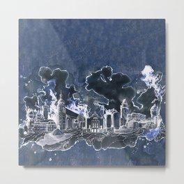 Cottbus Skyline by carographic, Carolyn Mielke Metal Print