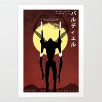 neon genesis evangelion Art Prints featuring Neon Genesis Evangelion - Angel 13: Bardiel by MNM Studios
