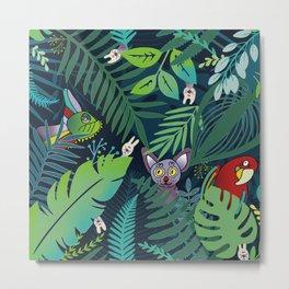 peek-a-boo jungle animals pattern Metal Print