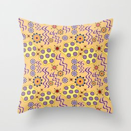 Atom pattern Throw Pillow