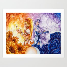 Sunshine and Moonlight Art Print