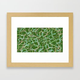Colorful spirits greenback Framed Art Print