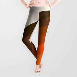 Retro Golden Rainbow - Left Side Leggings