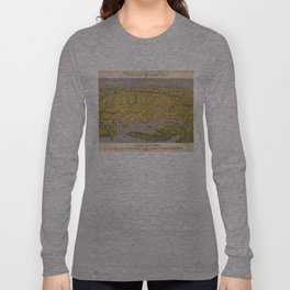 Vintage Pictorial Map of Virginia (1861) Long Sleeve T-shirt