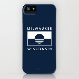 Milwaukee Wisconsin - Navy - People's Flag of Milwaukee iPhone Case