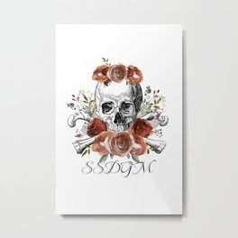 SSDGM skull and flowers Metal Print