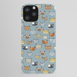 Cat Face Doodle Pattern iPhone Case