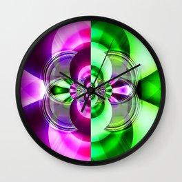 Symmetry green pink Wall Clock