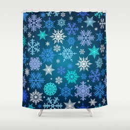 Snowflake pattern Shower Curtain