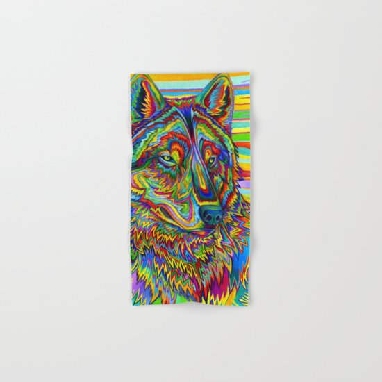 Psychedelic Wolf Hand & Bath Towel