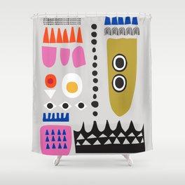 Contemporary Abstract Giclee Print, Minimalist Wall Art, Fine Art Print,  Scandi Wall Art, New Home Shower Curtain
