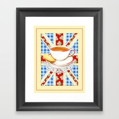 Union Jack and a Cup of Tea Framed Art Print