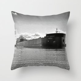 Paul R Tregurtha With Stats Throw Pillow