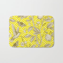 Lemons Pattern (yellow) Bath Mat