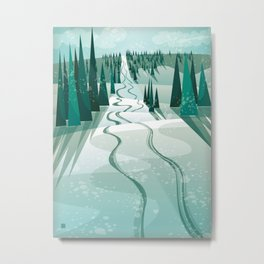 Winter Slope Metal Print