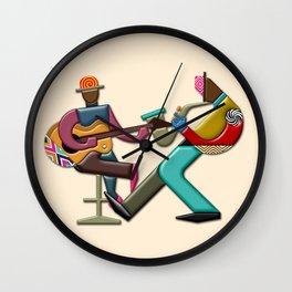 Jazz Quintet VI Wall Clock