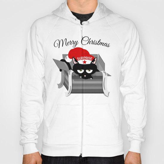 Naughty Cat Merry Christmas Hoody
