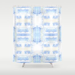 Car in the snow 4x4 Shower Curtain
