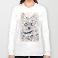 puppy Long Sleeve T-shirts featuring Puppy by echoes
