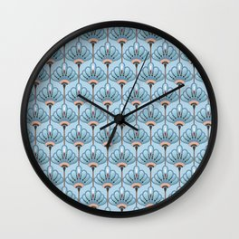 Seamless Flower  Buttercup  Pattern. Summer background garden. Art deco style Wall Clock