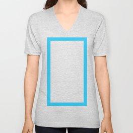Shapes & Friends: Electric Blue Rectangle Unisex V-Neck