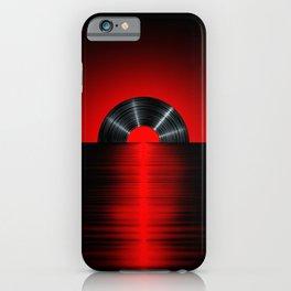 Vinyl sunset red iPhone Case