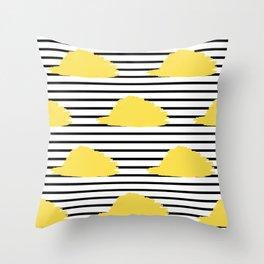 Yellow & Black Stripes Digital Design Throw Pillow