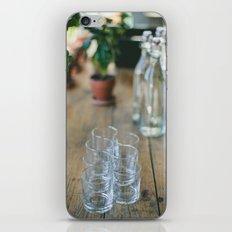 Wood Grain & Glasses  iPhone & iPod Skin