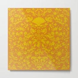 Otomi Pattern Metal Print