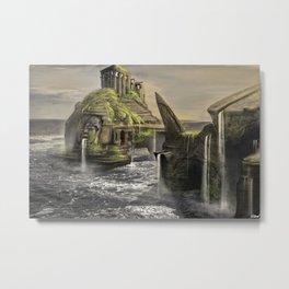 Aztec Island | Concept Environmental Landscape Concept Design Metal Print
